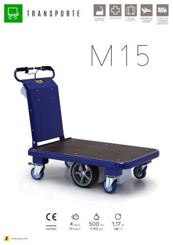 M15 carro eléctrico con plataforma