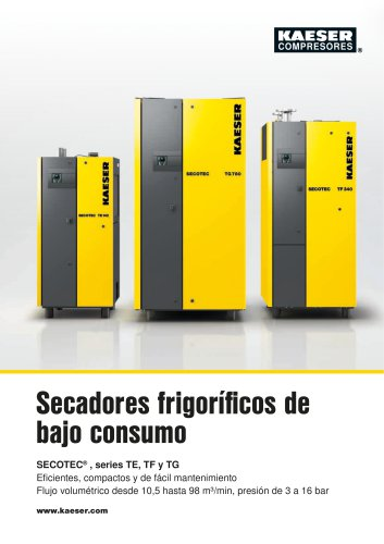 Secadores frigoríficos SECOTEC serie TF