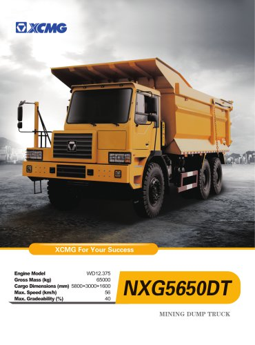 XCMG Off-road Dumper NXG5650DT