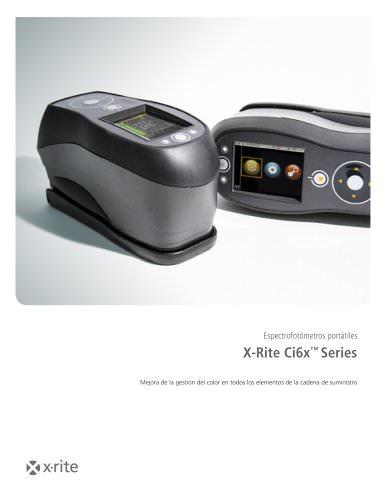 Espectrofotómetros portátiles X-Rite Ci6x™ Series