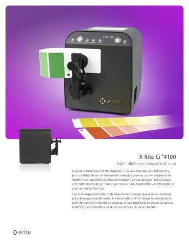 X-Rite Ci™4100 Espectrofotómetro compacto de mesa