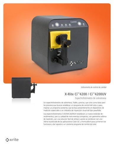 X-Rite Ci4200 / Ci4200UV Espectrofotómetro de sobremesa