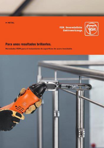 Novedades FEIN para el tratamiento de superficies de acero inoxidable