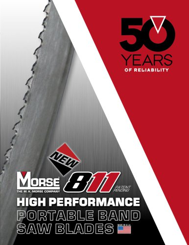 Morse 811 Portable Band Saw Blades Catalog
