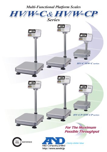 HV/W-C & HV/W-CP Series of Multi-Functional Platform Scales