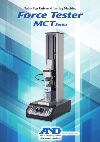 Table top universal testing machine MCT series