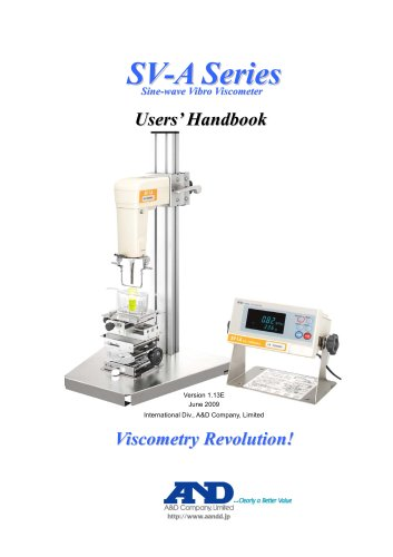 Users' Handbook for the SV-A Series