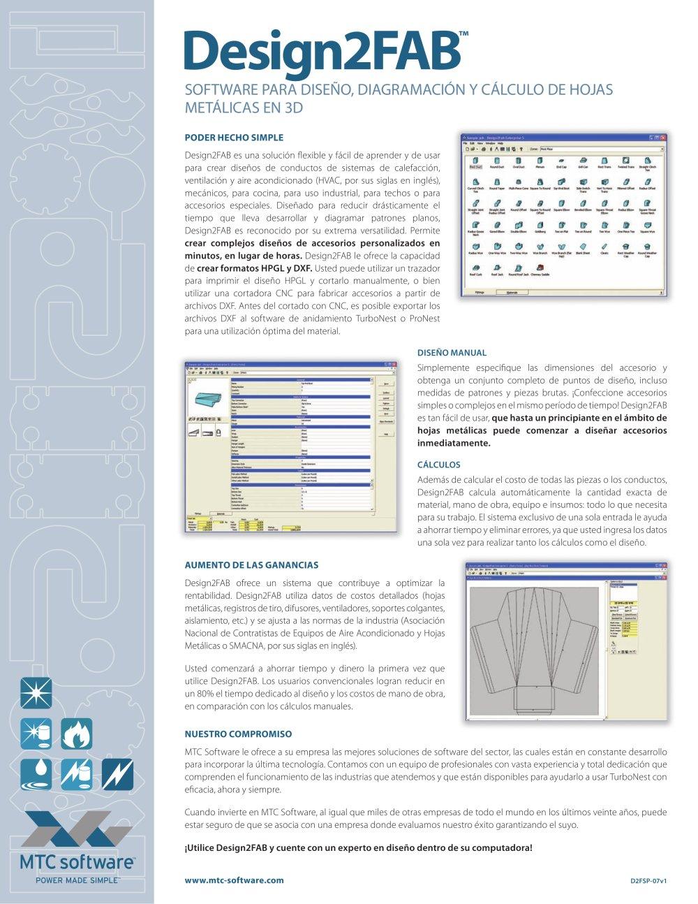 Design2Fab software para diseño, diagramación y cálculo de hojas ...