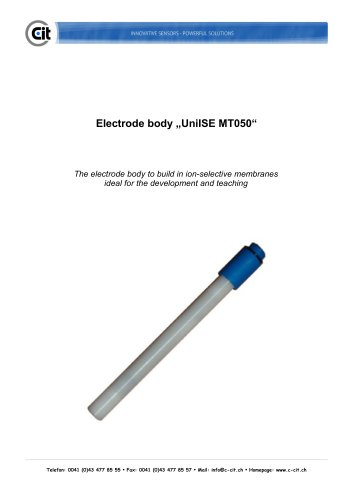 CITSens Ion electrode body UniISE MT050