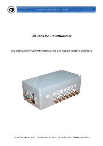 CITSensIon Potentiometer product catalog