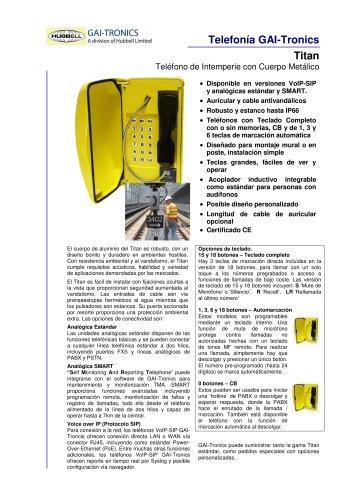 Titan- Teléfono de Intemperie con Cuerpo Metálico