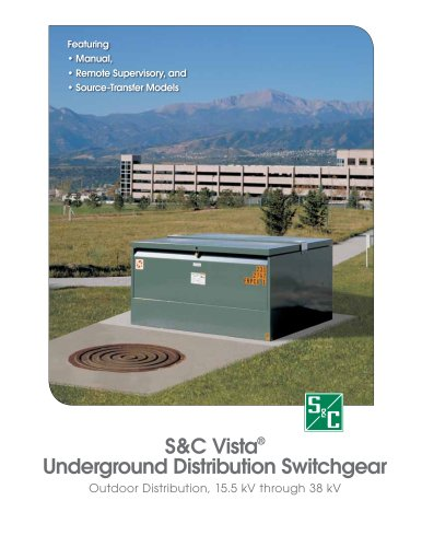 Vista Underground Distribution Switchgear