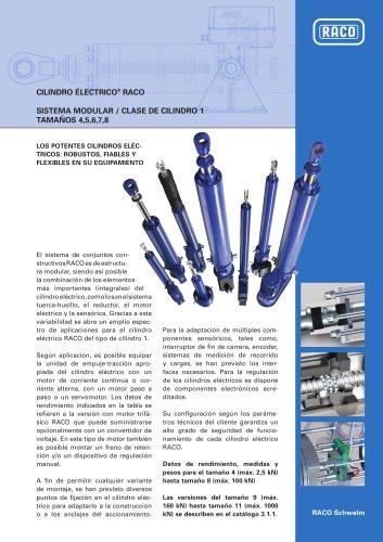 SISTEMA MODULAR / CLASE DE CILINDRO 1 TAMAÑOS 4,5,6,7,8