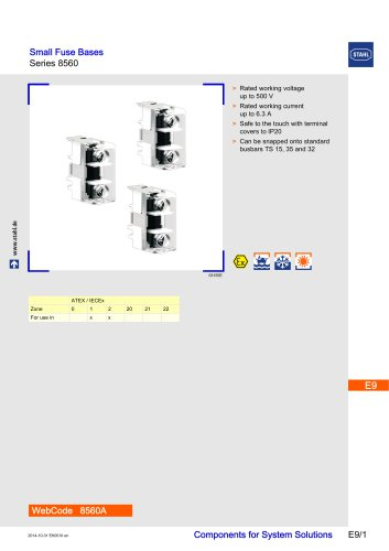 Small Fuse Bases Series 8560
