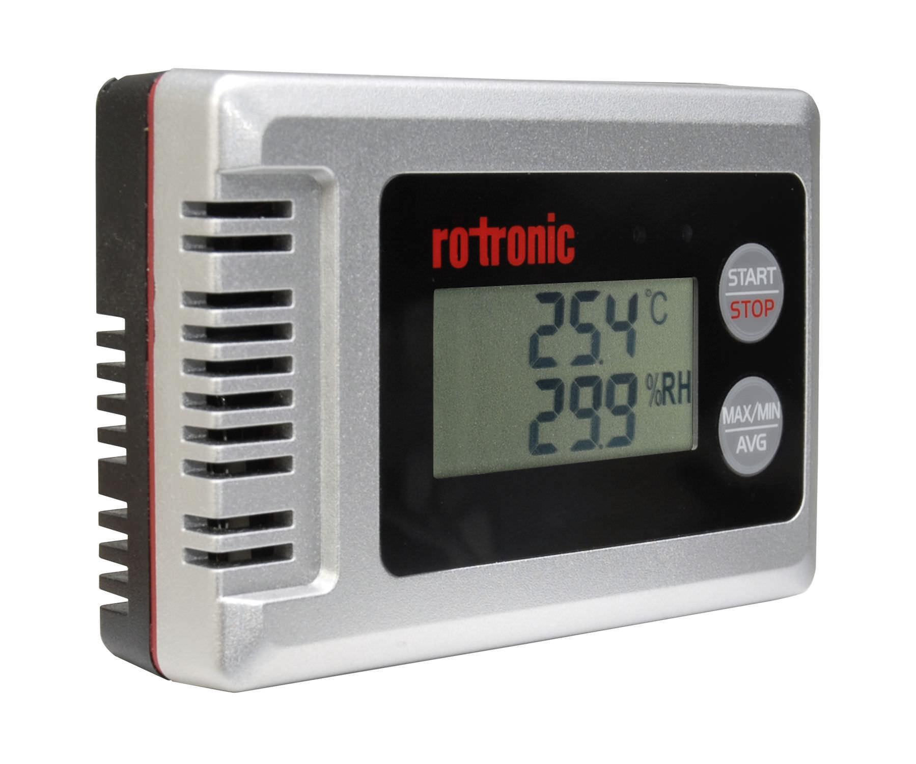 ROTRONIC HL de 1d Juego de Registrador de Datos para Humedad y Temperatura con Pantalla hydrolog Gris