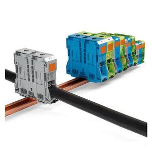 bloque de conexión de corriente fuerte / de muelle / sin tornillos / en riel-DIN
