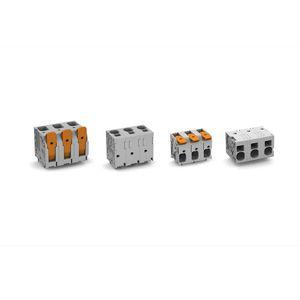 bloque de conexión para PCB / push-in / de potencia / compacto