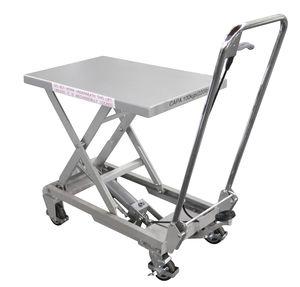 mesa elevadora de tijera / con pedal / manual / móvil