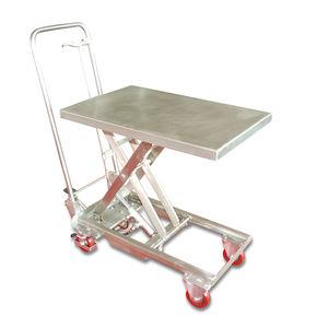 mesa elevadora de tijera / con pedal / móvil