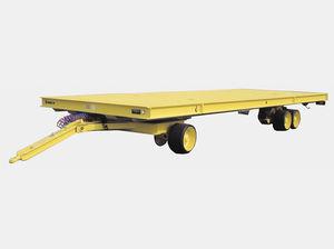 remolque de 2 ejes / plataforma / con un solo tren delantero pivotante / utilitario