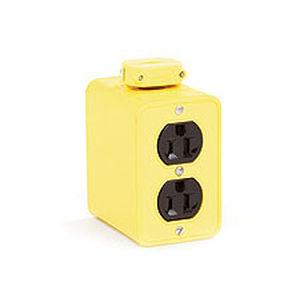 caja eléctrica con toma de corriente
