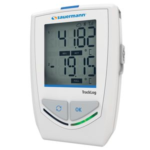 registrador de datos de temperatura y humedad / inalámbrico / con pantalla LCD / climático