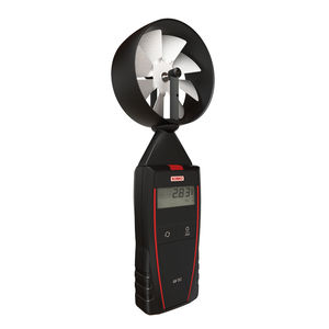 termo-anemómetro de hélice / portátil / digital / alimentado por batería