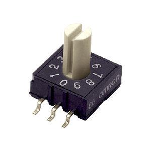 interruptor rotativo / DIP / multipolar / de botón