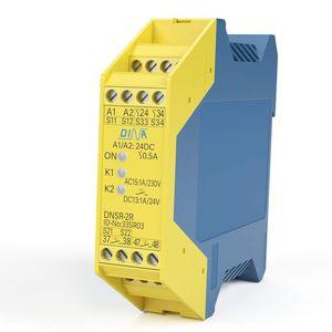 relé de vigilancia de parada de emergencia / de tensión / de corriente / temporizador