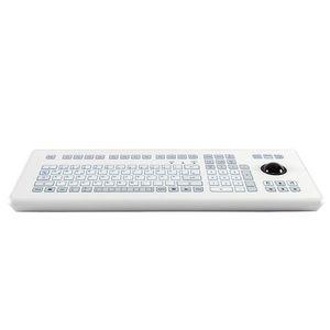 teclado de mesa / 105 teclas / con trackball / de carrera corta