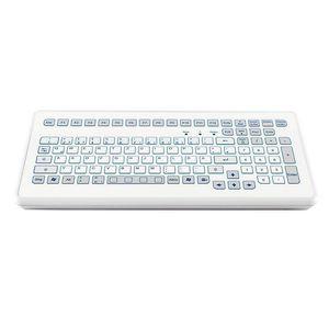 teclado de mesa / 104 teclas / sin puntero / de carrera corta