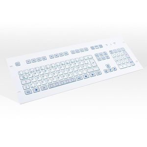 teclado en bastidor / 105 teclas / sin puntero / de carrera corta
