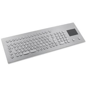 teclado empotrable / 105 teclas / con alfombrilla táctil / de acero inoxidable