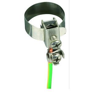 Abrazadera de tubo en espiral tuerca combinada M8//M10 abrazadera de ventilaci/ón DN 80 hasta 500 mm
