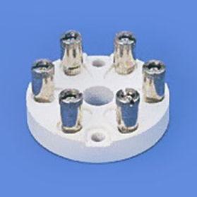 bloque de conexión de cerámica / con tornillo / para montaje sobre panel / para sensor de temperatura