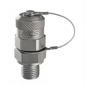 válvula de pistón / con control hidráulico / para aceite / de acero zincado