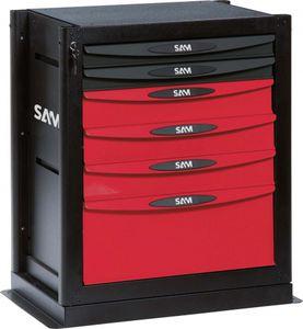 armario de almacenamiento / benchtop / con 6 cajones / de metal