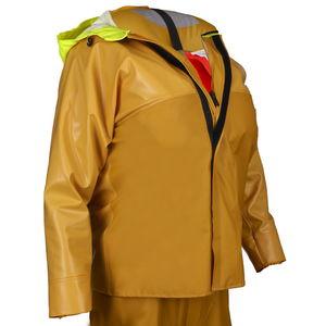 chaqueta de trabajo / impermeable / de poliéster / revestimiento de PVC