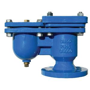 válvula con control neumático / de flotador / para aguas residuales / de hierro fundido