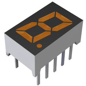 visualizadores LED / digitales / de 1 dígito / de 7 segmentos
