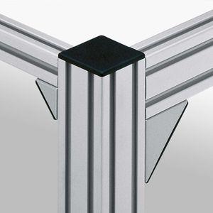 escuadra de fijación / para ensamblaje de perfiles / 90° / de zinc