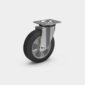 ruedecilla giratoria / con platino giratorio / con rodamiento de bolas / de acero estampado
