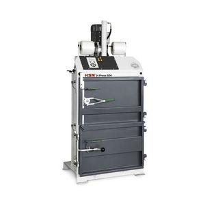 prensa de balas vertical / de carga frontal / para cajas de cartón / para papel