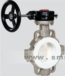 válvula de mariposa / manual / de acero inoxidable / para líquido de alta viscosidad