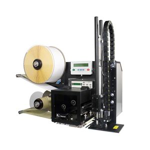 máquina de impresión-colocación de etiquetas de transferencia térmica / monocroma / de etiquetas RFID / automática