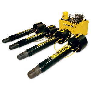 sistema de elevación síncrono / con polipasto / cilindros / para fardos