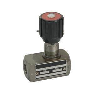 válvula de control de caudal / de aguja / con control hidráulico / dosificadora