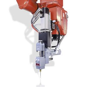 mezclador-dosificador para la industria electrónica / para la industria del automóvil / de pistón / de fluidos