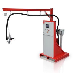 mezclador-dosificador con bomba de engranajes / de cola / monocomponente