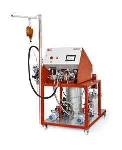 mezclador-dosificador con bomba de engranajes